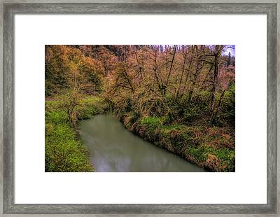 Framed Print featuring the photograph Soft River Flow by Bill Posner