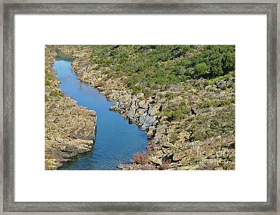 River On The Rocks. Color Version Framed Print