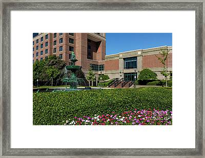 Riverwalk Augusta Ga Fountain Framed Print