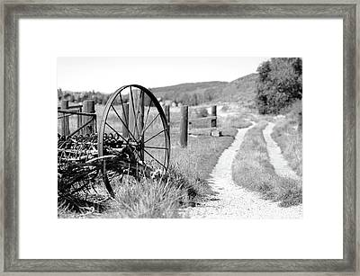 Road Home Framed Print by Dana Klein