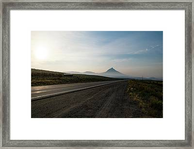Road Through The Rockies Framed Print