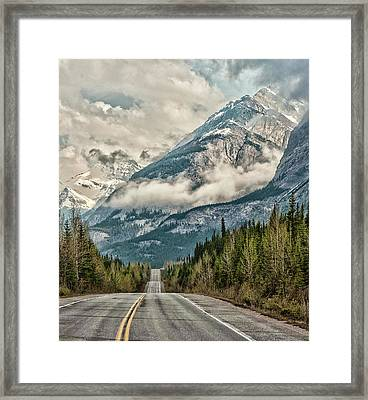 Road To The Clouds Framed Print by Jeff R Clow