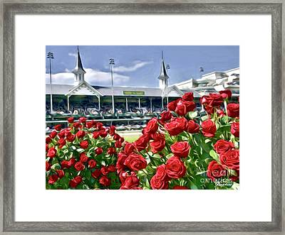 Road To The Roses Framed Print