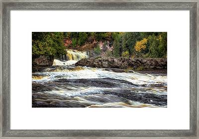 Roaring Gooseberry Falls Framed Print