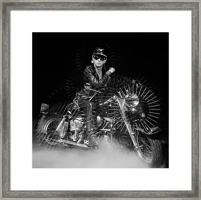 Rob Halford Posed Framed Print by Fin Costello