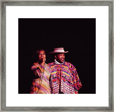 Roberta Flack And Les Mccann Perform At Framed Print by David Redfern