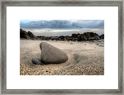 Rock On Beach Framed Print