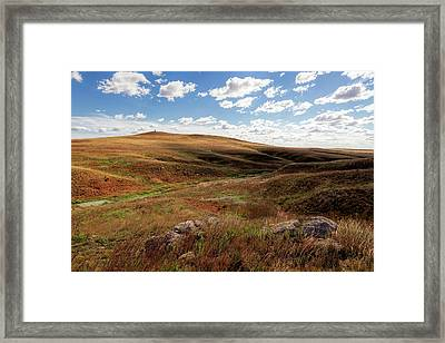 Framed Print featuring the photograph Rock Outpost by Scott Bean