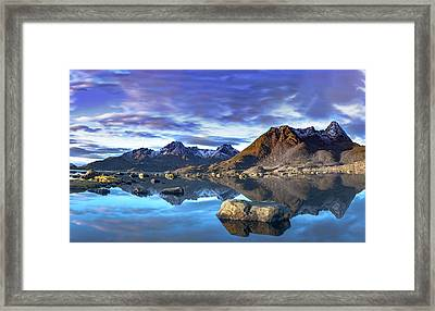 Rock Reflection Landscape Framed Print