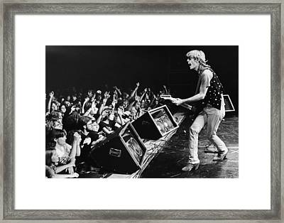 Rock Singer Tom Petty In Concert Framed Print