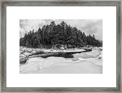 Rocky Gorge N H, River Bend 1 Framed Print