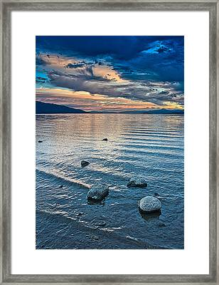 Rocky Lake Vista Framed Print