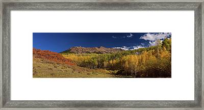 Framed Print featuring the photograph Rocky Mountain Autumn Panorama View by James BO Insogna