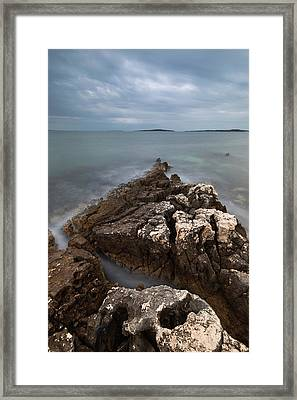 Framed Print featuring the photograph Rocky Triangle by Davor Zerjav