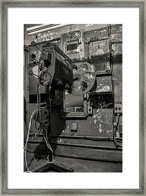 Framed Print featuring the photograph Roll The Film - Bw by Kristia Adams