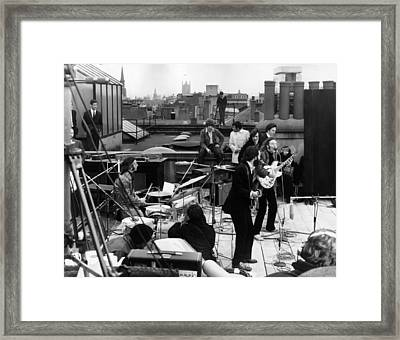 Rooftop Beatles Framed Print by Express