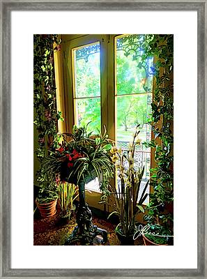 Framed Print featuring the photograph Room With A View by Joan Reese