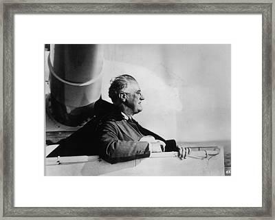 Roosevelt At Sea Framed Print by Keystone
