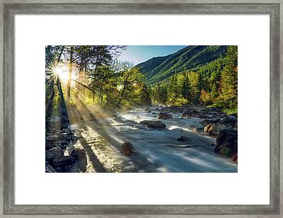 Rosebud Creek Sunrise Framed Print by Leland D Howard