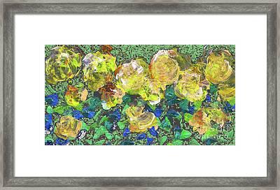 Roses 1001 Yellow Framed Print