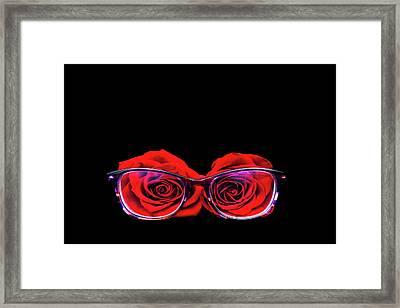 Rosy Vision Framed Print