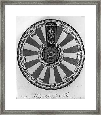 Round Table Framed Print by Hulton Archive