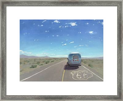 Route 66, Somewhere In California Framed Print