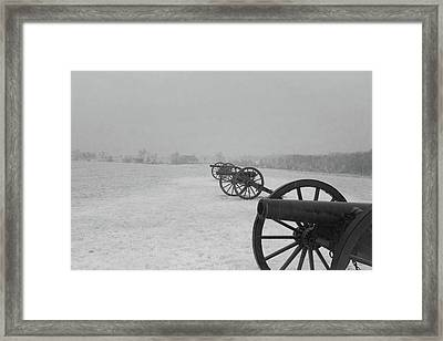 Row Of Cannon Framed Print