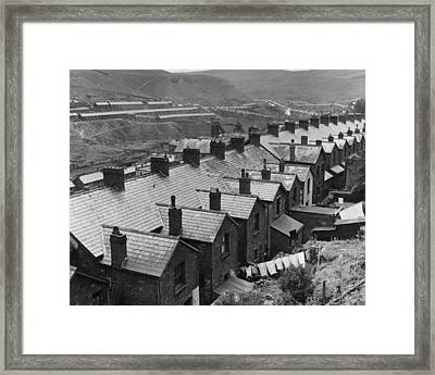 Row Of Rooftops Framed Print by Charles Fenno Jacobs