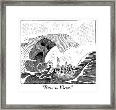 Row V Wave Framed Print by Tom Chitty