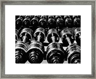 Rows Of Dumbbells Framed Print