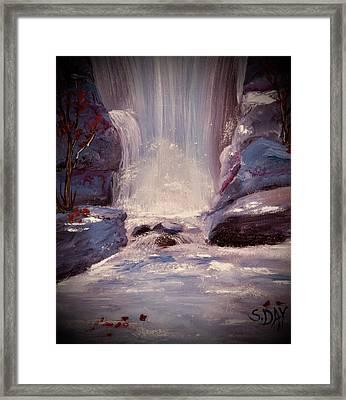 Royal Falls Framed Print