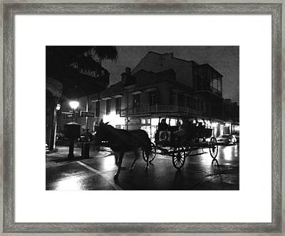 Framed Print featuring the photograph Royal Street by Amzie Adams
