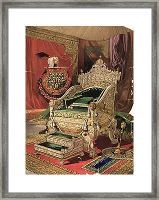 Royal Throne Framed Print by Hulton Archive