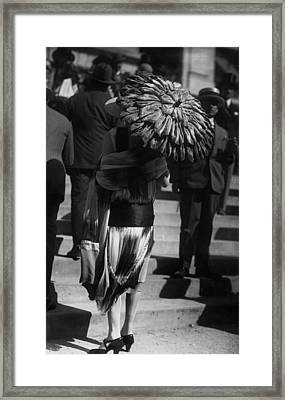 Ruched Sunshade Framed Print by Seeberger Freres