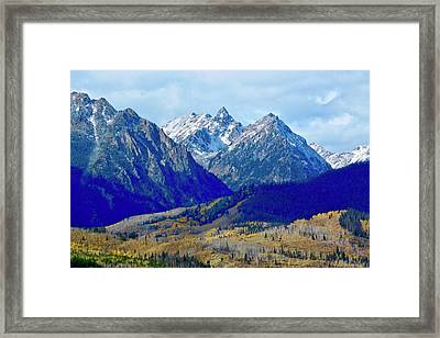 Framed Print featuring the photograph Rugged Peaks by Dan Miller