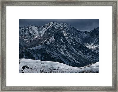 Rugged Rocky Mountains Framed Print by Aluma Images