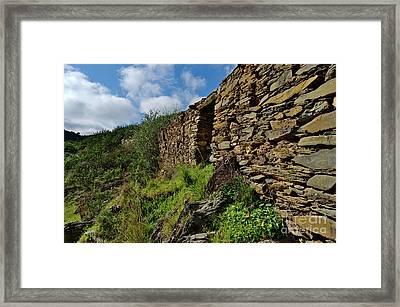 Ruins Of A Schist Cottage In Alentejo Framed Print