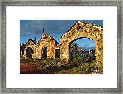 Ruins Of The Abandoned Mine Of Sao Domingos. Portugal Framed Print