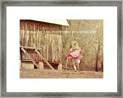Run Emily Run Quote Framed Print by JAMART Photography
