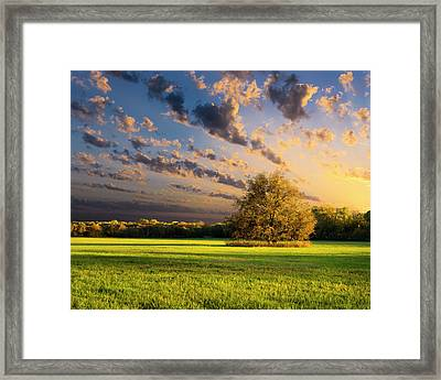 Rural Texas Autumn Sunset Framed Print by Dean Fikar