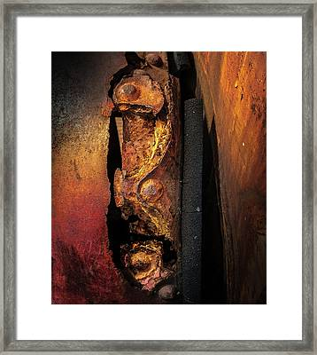 Rusty Colours Framed Print