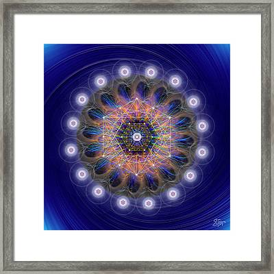 Framed Print featuring the digital art Sacred Geometry 726 by Endre Balogh