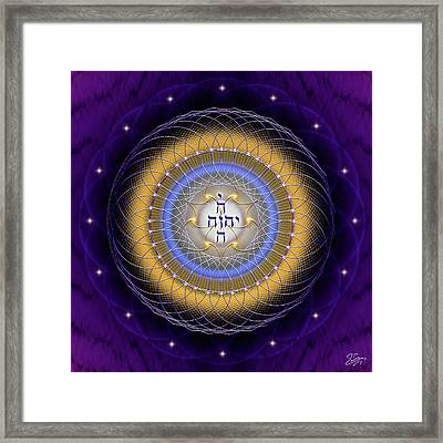Framed Print featuring the digital art Sacred Geometry 727 by Endre Balogh