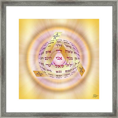 Framed Print featuring the digital art Sacred Geometry 728 by Endre Balogh