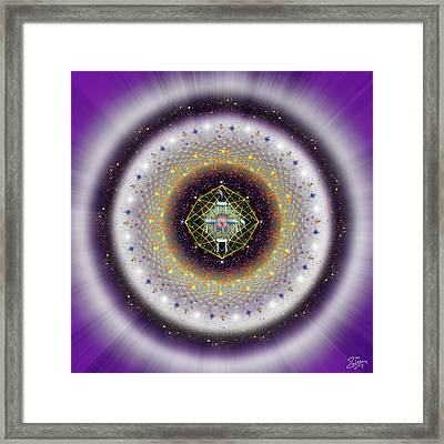 Framed Print featuring the digital art Sacred Geometry 729 by Endre Balogh