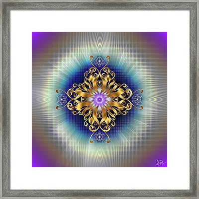 Framed Print featuring the digital art Sacred Geometry 730 by Endre Balogh