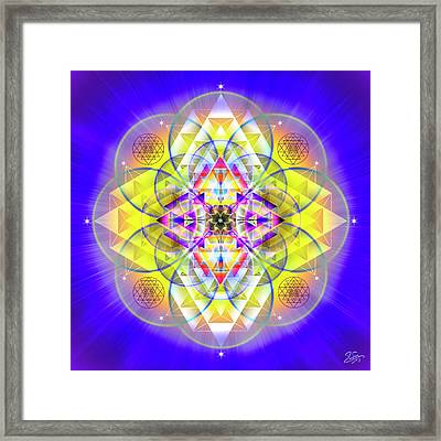 Framed Print featuring the digital art Sacred Geometry 731 by Endre Balogh
