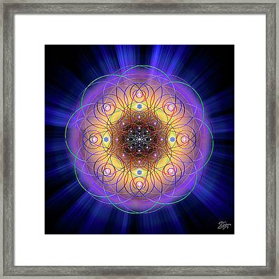 Framed Print featuring the digital art Sacred Geometry 732 by Endre Balogh