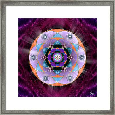 Framed Print featuring the digital art Sacred Geometry 733 by Endre Balogh
